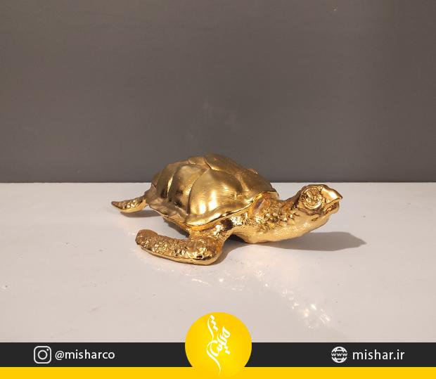 تندیس برنجی لاکپشت پوزه عقابی